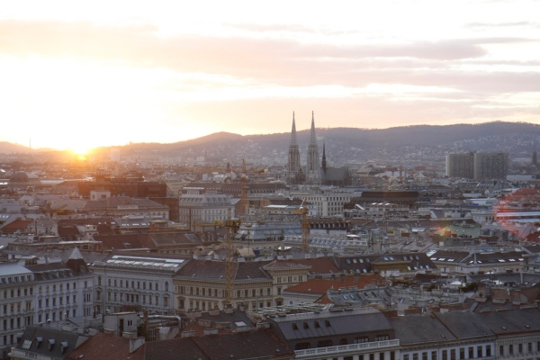Sunset over Vienna by Ulrich Strauss